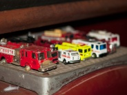 various fire truck toys with the fire Engine exhibit