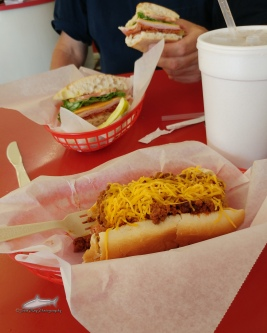Amazing chili cheese dog!